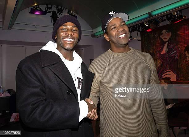 "Derek Luke, star of ""Antwone Fisher"", and director/producer Denzel Washington"