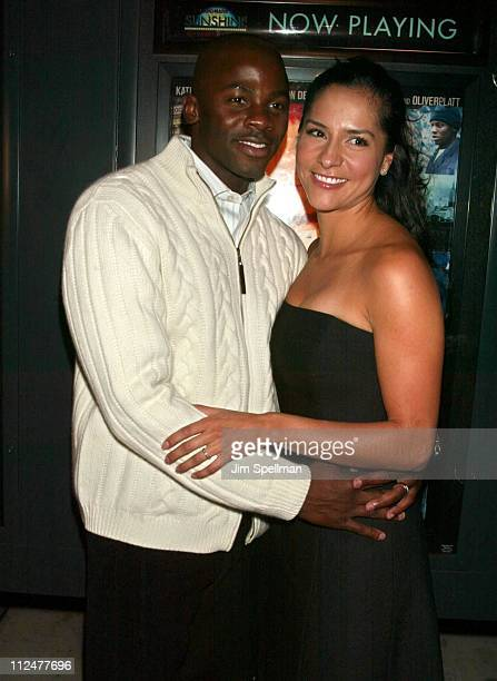 Derek Luke with his wife Sophia Luke during 'Pieces of April' New York City Premiere at Landmark's Sunshine Theater in New York City New York United...