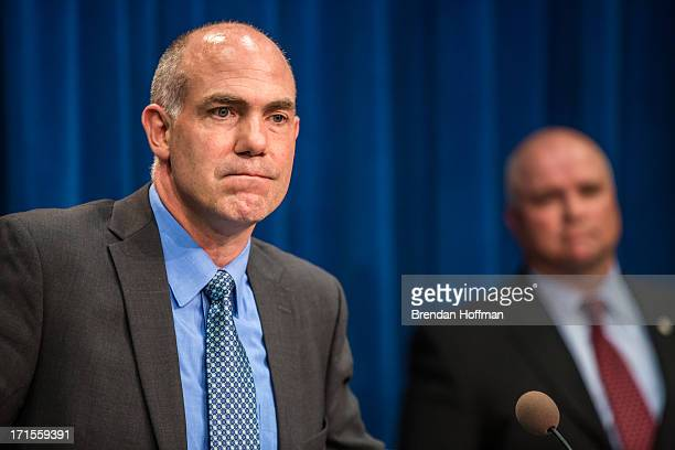 Derek Maltz special agent in charge at the Drug Enforcement Agency speaks at a news conference at DEA headquarters on June 26 2013 in Washington DC...