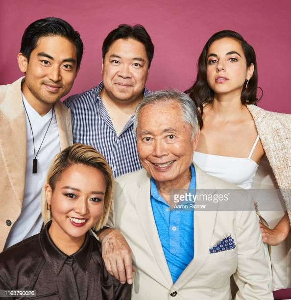 Derek Mio Kiki Sukezane Alexander Woo George Takei and Cristina Rodlo of 'The Terror Infamy' pose for a portrait during the Pizza Hut Lounge at 2019...