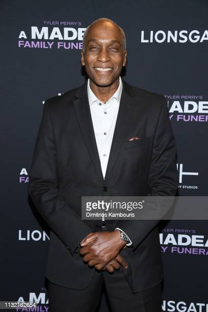 Derek Morgan attends a screening for Tyler Perry's A Madea Family Funeral at SVA Theater on February 25 2019 in New York City