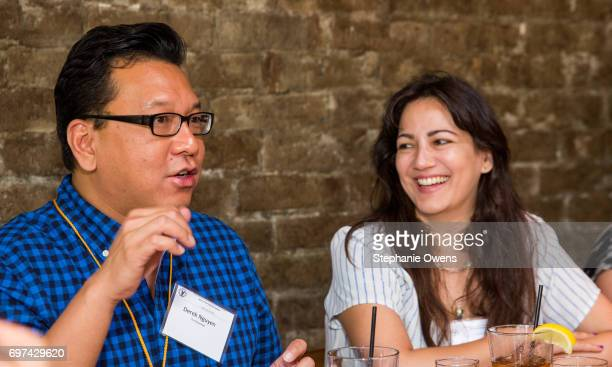 Derek Nguyen and Vashti Anderson attend the DGA Reception during 2017 Los Angeles Film Festival at City Tavern on June 16 2017 in Culver City...