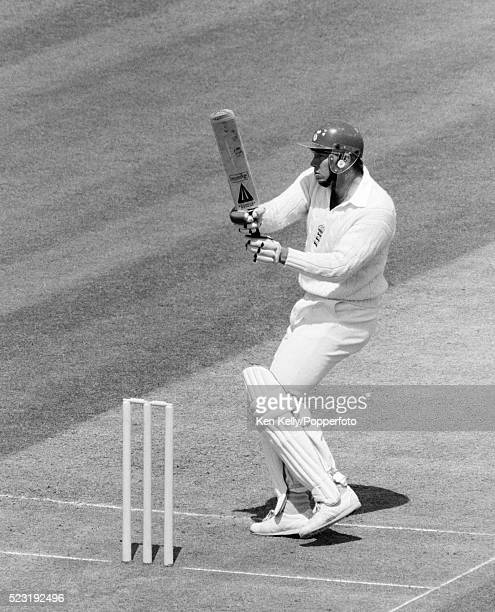 Derek Pringle batting for Engand during the first day of the 1st Test match between England and India at Lord's cricket ground in London 5th June...