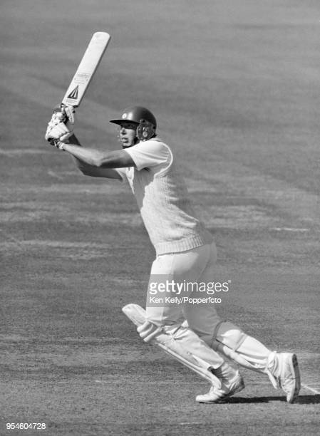 Derek Pringle batting for Essex during his innings of 29 not out in the NatWest Bank Trophy Final between Essex and Nottinghamshire at Lord's Cricket...