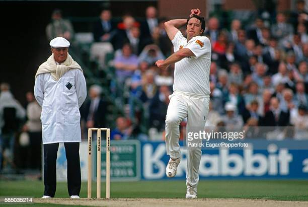 Derek Pringle bowling for England during the 1st Texaco Trophy One Day International between England and Australia at Old Trafford Manchester 19th...