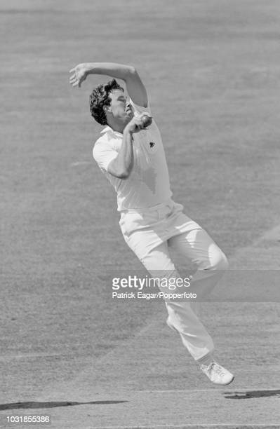 Derek Pringle bowling for England during the 2nd Test match between England and Pakistan at Lord's cricket ground in London 12th August 1982