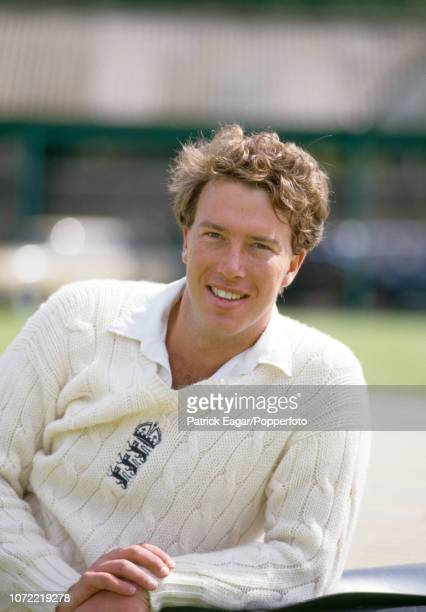 Derek Pringle of England during a training session before the 1st Test match between England and India at Lord's Cricket Ground London 4th June 1986