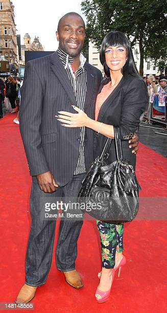 Derek Redmond and guest attend the 'Chariots Of Fire' UK Film Premiere at Empire Leicester Square on July 10 2012 in London England