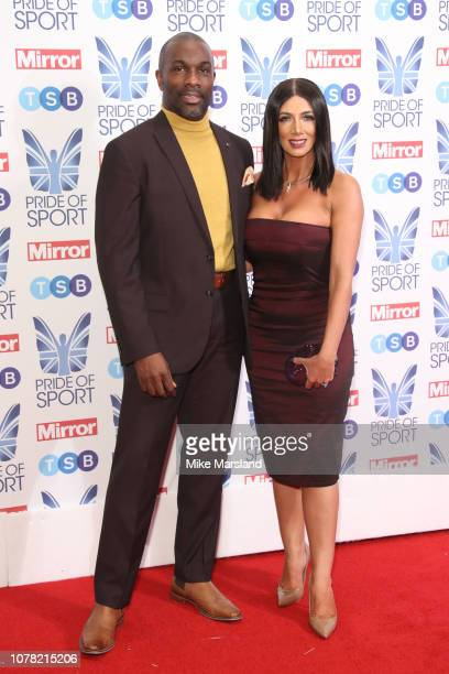 Derek Redmond and Maria Wates attend the Pride of Sport awards 2018 at Grosvenor House on December 06 2018 in London England