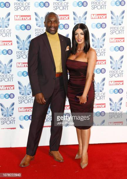 Derek Redmond and Maria Wates attends the Pride of Sport awards 2018 at Grosvenor House on December 06 2018 in London England