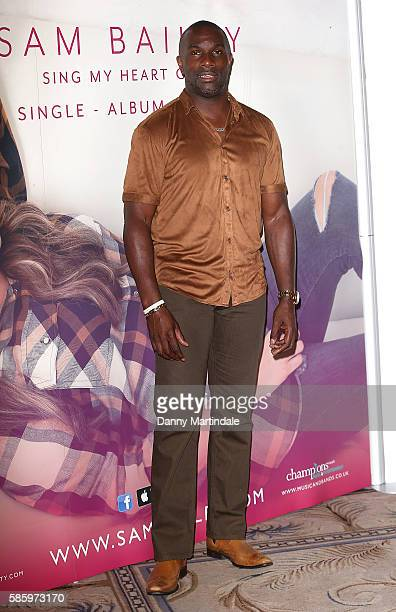 Derek Redmond attends the launch of Sam Bailey new album at The Dorchester on August 4 2016 in London England