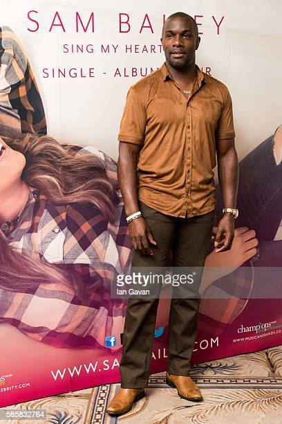 Derek Redmond attends the Sam Bailey album launch at The Dorchester on August 4 2016 in London England