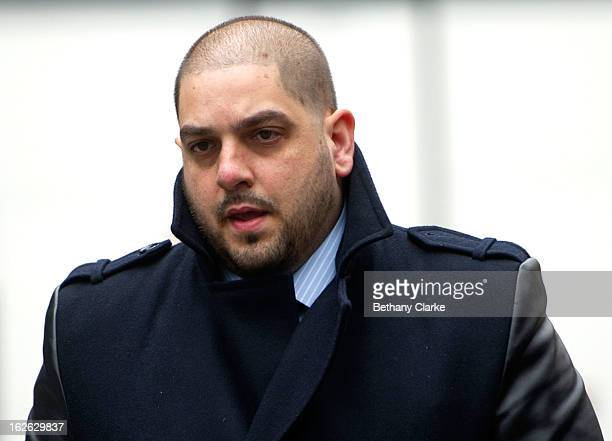 Derek Rose arrives at Southwark Crown Court on February 25 2013 in London England Derek Rose and Jakir Uddin are accused blackmailing Tamara...