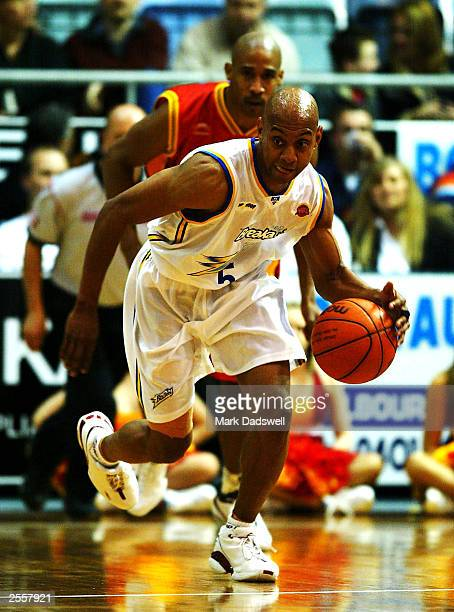 Derek Rucker for the Bullets in action during the NBL round one match between the Melbourne Tigers and the Brisbane Bullets at the State Hockey and...