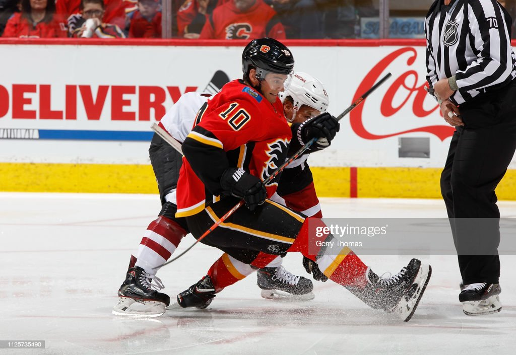 CAN: Arizona Coyotes v Calgary Flames