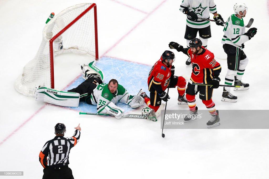 Dallas Stars v Calgary Flames - Game Three : News Photo