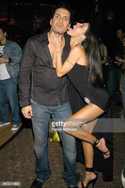 Derek Sharinian and Tabitha Stevens attend Richard Beckman and Conde Nast after party for Fashion Rocks at Rainbow Room on September 8 2005 in New...