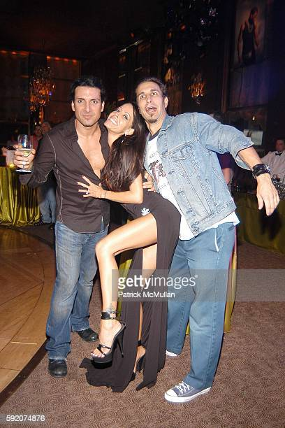 Derek Sharinian Tabitha Stevens and attend Richard Beckman and Conde Nast after party for Fashion Rocks at Rainbow Room on September 8 2005 in New...