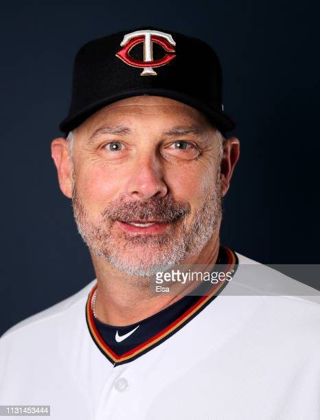 Derek Shelton of the Minnesota Twins poses for a portrait during Minnesota Twins Photo Day on February 22 2019 at Hammond Stadium in Fort Myers...