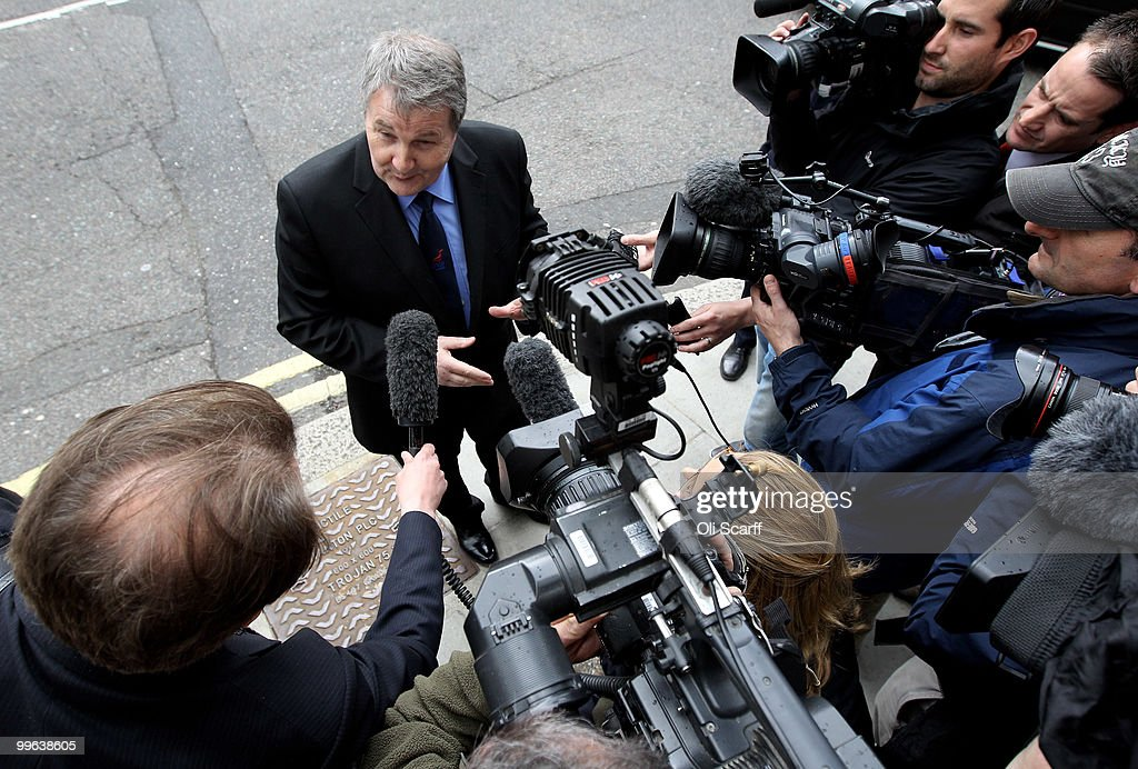 Derek Simpson, the Joint General Secretary of the Unite union, speaks to journalists as he arrives at the Department of Transport to hold talks with the Transport Secretary Philip Hammond in a bid to avert a proposed strike by BA cabin crew on May 17, 2010 in London, England. BA cabin crew are planning four five-day strikes, the first of which is due to begin tomorrow, in a protest over changes to working conditions. British Airways are also questioning the legality of the BA cabin crew members by their union Unite and are seeking a High Court injunction to prevent the industrial action.
