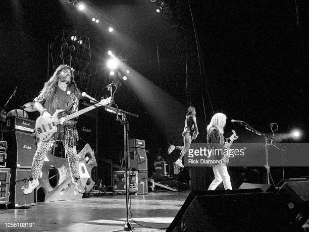 Derek Smalls , David St. Hubbins and Nigel Tufnel of Spinal Tap are joined by members Drivin' N' Cryin' at The Fox Theater in Atlanta Georgia, June...