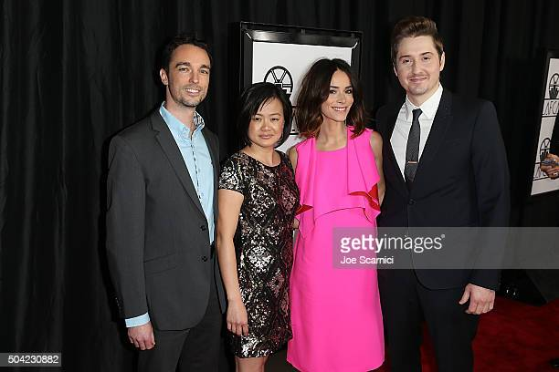 Derek Smith Rosa Tran Abigail Spencer and Duke Johnson arrive at the 40th Annual Los Angeles Film Critics Association Awards at InterContinental...