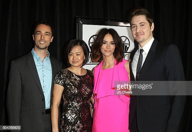Derek Smith Rosa Tran Abigail Spencer and Duke Johnson attend The 40th Annual Los Angeles Film Critics Association Awards at InterContinental Hotel...