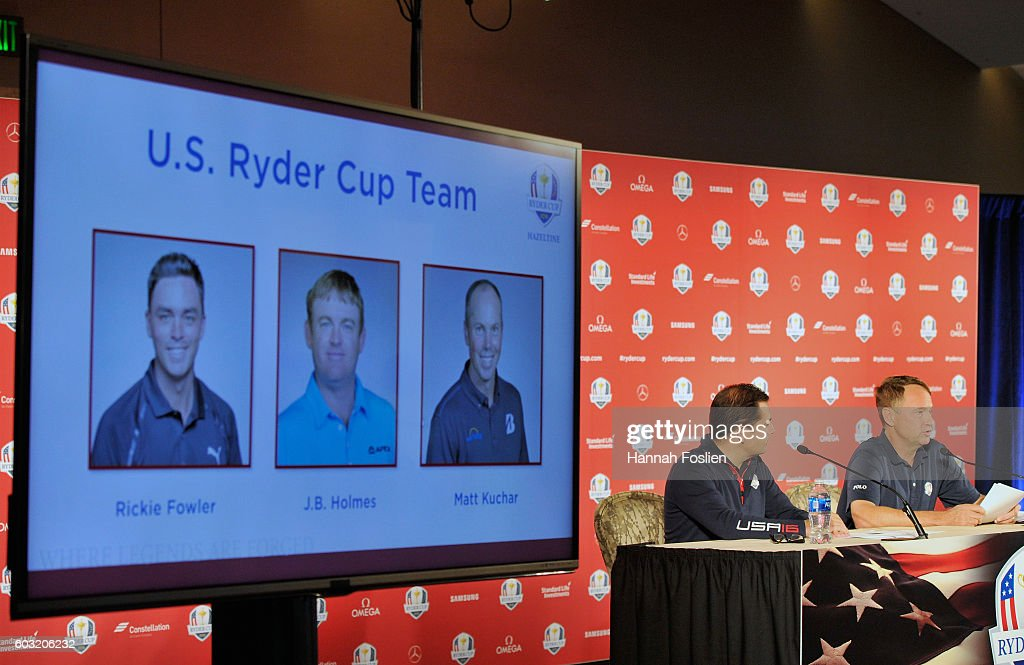 Ryder Cup Team USA Captain's Picks Press Conference : News Photo