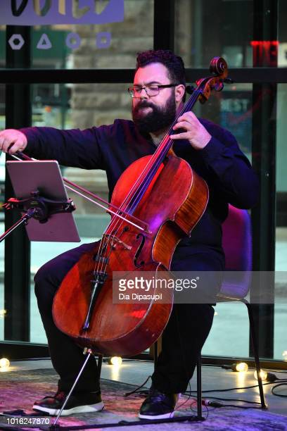 Derek Stein of Vitamin String Quartet performs onstage during the Build Series at Build Studio on August 13 2018 in New York City