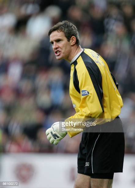 Derek Stillie of Dundee United during the Scottish Premier League match between Heart of Midlothian and Dundee United at Tyncastle Stadium November...