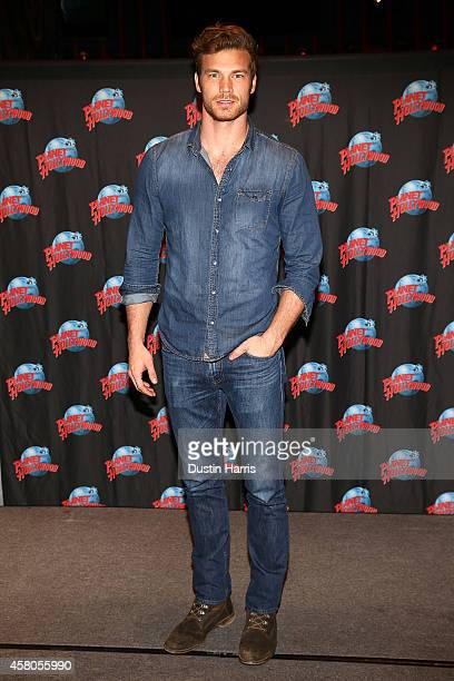Derek Theler attends a meet and greet at Planet Hollywood Times Square on October 29 2014 in New York City