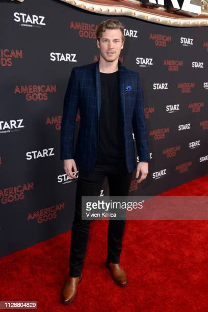 Derek Theler attends the American Gods Season Two Red Carpet Premiere Event on March 5 2019 in Los Angeles California