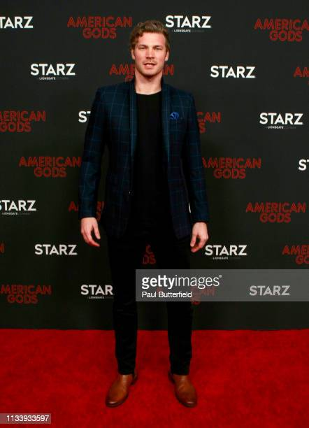 Derek Theler attends the premiere of STARZ's American Gods season 2 at Ace Hotel on March 05 2019 in Los Angeles California