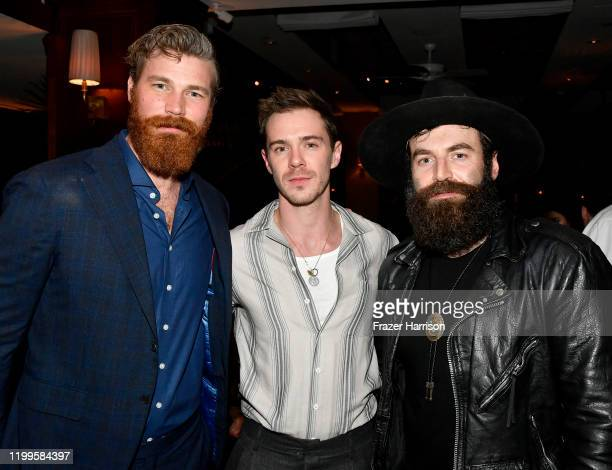 Derek Theler Sam Keeley and Stephen Murphy attend Paramount Network's 68 Whiskey Premiere Party at Sunset Tower on January 14 2020 in Los Angeles...