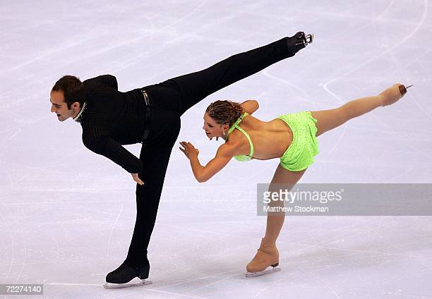 Derek Trent and Tiffany Vise compete in the short program of the pairs competition during Skate America October 26 2006 at the Hartford Civic Center...