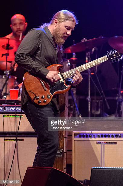 Derek Truck of the Tedeschi Trucks Band performs on stage at Mizner Park Amphitheater on January 15 2017 in Boca Raton Florida