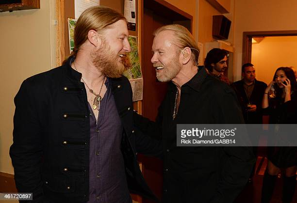 Derek Trucks and Gregg Allman attend All My Friends Celebrating the Songs Voice of Gregg Allman at The Fox Theatre on January 10 2014 in Atlanta...