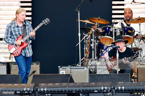 Derek Trucks and Johnny Winter perform at Eric Clapton's Crossroads Guitar Festival 2007 to benefit the Crossroads Centre in Antigua July 28 2007 in...
