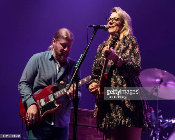 Derek Trucks and Susan Tedeschi of Tedeschi Trucks Band perform at Saenger Theatre on January 28 2019 in New Orleans Louisiana