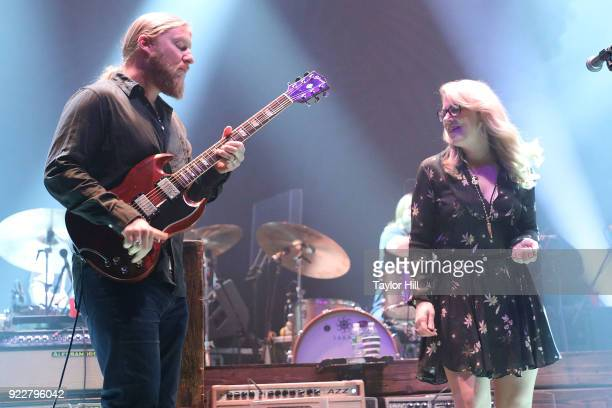 Derek Trucks and Susan Tedeschi of Tedeschi Trucks Band perform at The Capitol Theatre on February 21 2018 in Pt Chester New York