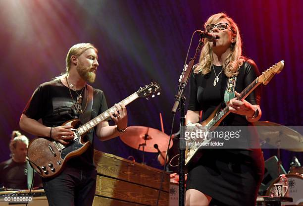 Derek Trucks and Susan Tedeschi of Tedeschi Trucks Band perform in support of the band's 'Let Me Get By' release at the Fox Theater on September 9...