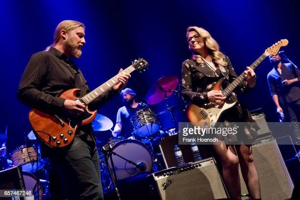 Derek Trucks and Susan Tedeschi of Tedeschi Trucks Band perform live during a concert at the Tempodrom on March 24 2017 in Berlin Germany