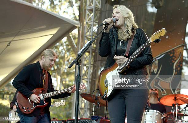 Derek Trucks and Susan Tedeschi of Tedeschi Trucks Band perform during the Outside Lands Music and Arts Festival at Golden Gate Park on August 8 2014...