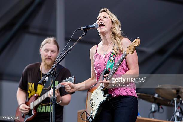 Derek Trucks and Susan Tedeschi of the Tedeschi Trucks Band performs at the New Orleans Jazz Heritage Festival at the Fair Grounds Race Course on...