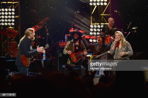 Derek Trucks and Susan Tedeschi perform during All My Friends Celebrating the Songs Voice of Gregg Allman at The Fox Theatre on January 10 2014 in...