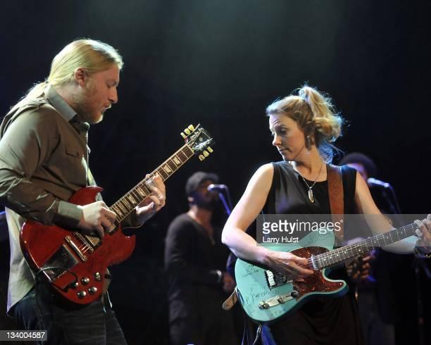 Derek Trucks and Susan Tedeschi performing with the 'Tedeschi and Trucks Band' with the at the Fillmore Auditorium in Denver Colorado on November 18...