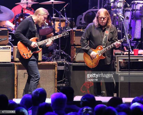 Derek Trucks and Warren Haynes of The Allman Brothers Band performs in concert at Beacon Theatre on March 7 2014 in New York City