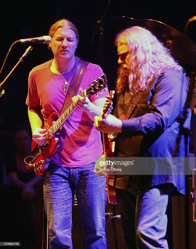 Derek Trucks and Warren Haynes perform, as part of the Allman Brothers Band at the Beacon Theatre on March 10, 2011 in New York City.