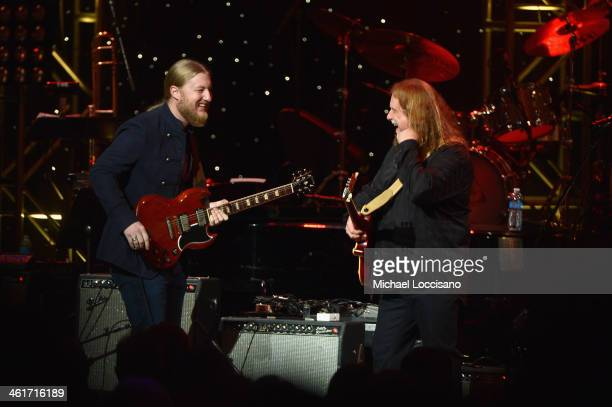 Derek Trucks and Warren Haynes perform during All My Friends Celebrating the Songs Voice of Gregg Allman at The Fox Theatre on January 10 2014 in...