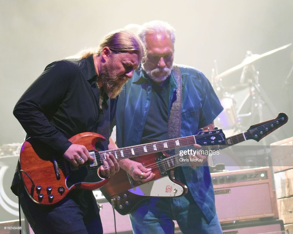 Derek Trucks of Tedeschi Trucks Band and Jorma Kaukonen of Hot Tuna perform at The Fox Theatre on July 15, 2017 in Atlanta, Georgia.